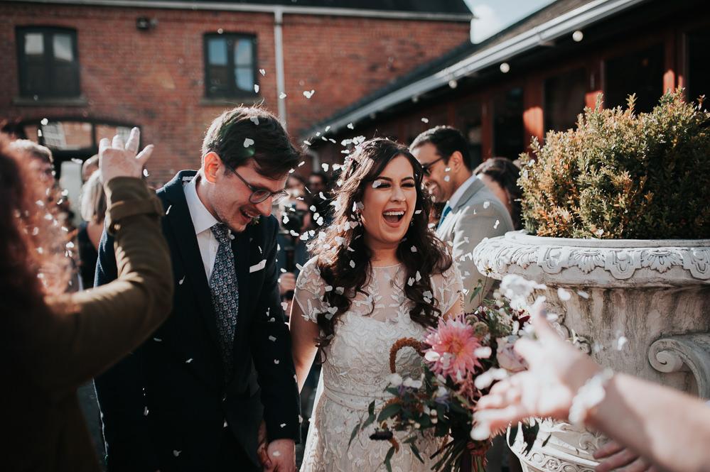 Confetti Throw Swancar Farm Country House Wedding Maree Frances Photography