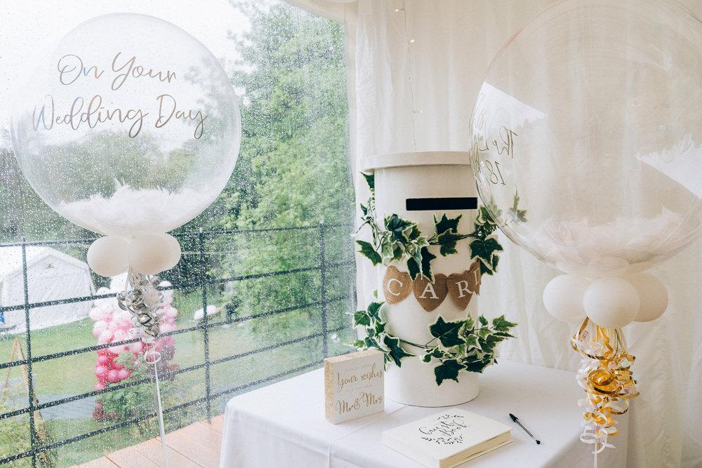 Post Box Cards Balloons Tullibole Castle Wedding Casey Avenue Photography
