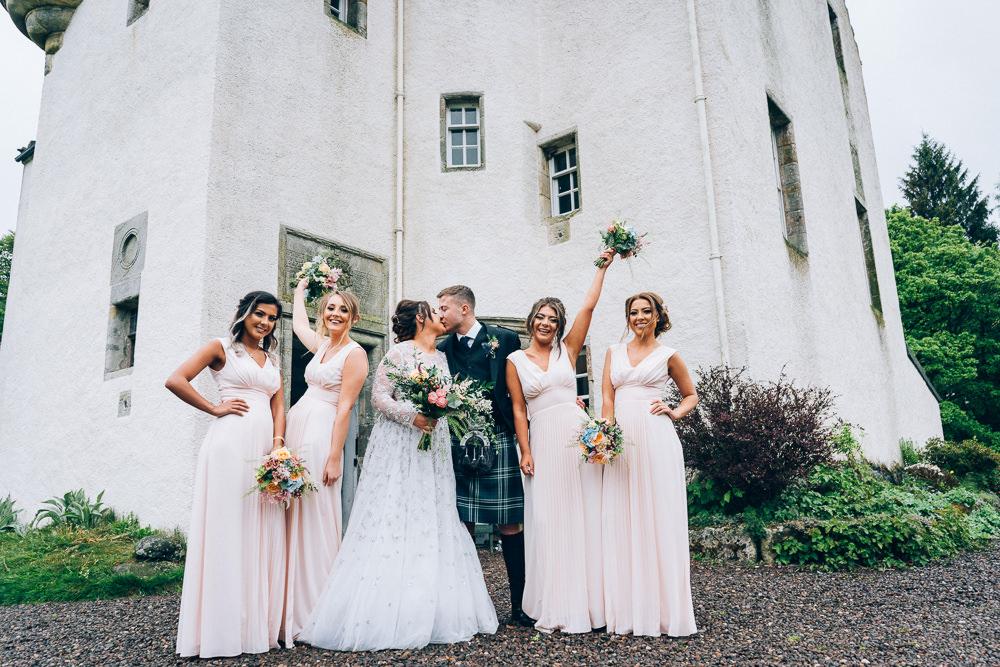 Bridesmaids Bridesmaid Dress Dresses Tullibole Castle Wedding Casey Avenue Photography