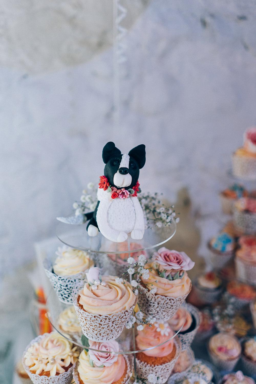 Cupcake Stand Tower Dog Topper Tullibole Castle Wedding Casey Avenue Photography