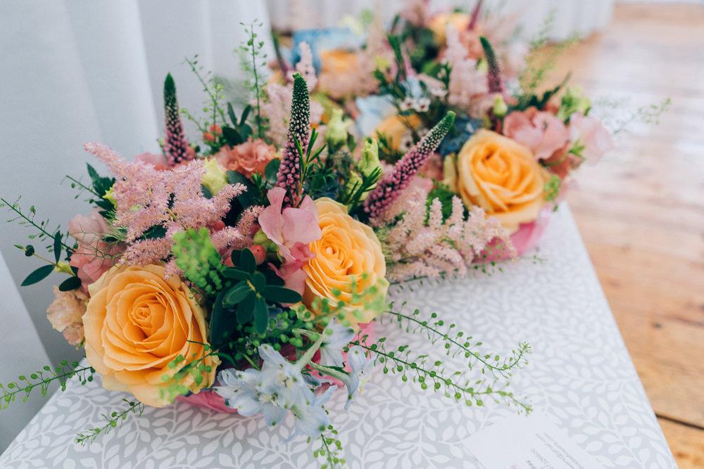 Bouquet Flowers Bride Bridal Colourful Rose Astilbe Tullibole Castle Wedding Casey Avenue Photography