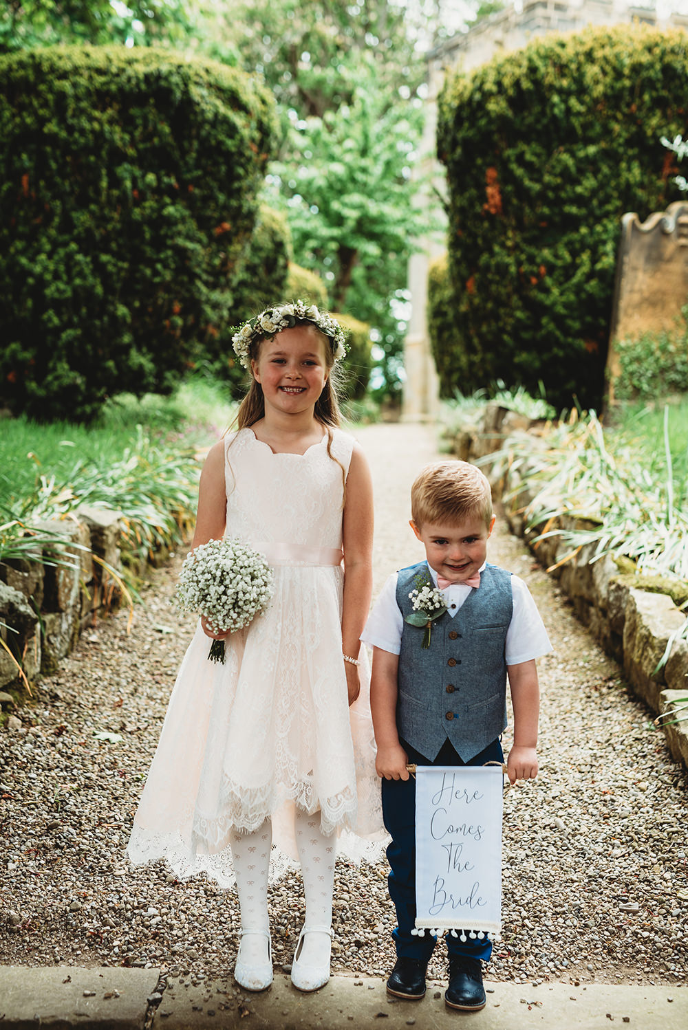 Flower Girl Page Boy Whinstone View Wedding Emma Adamson Photography