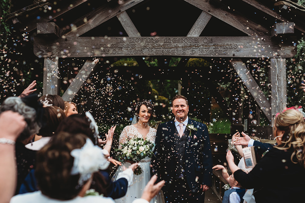 Confetti Throw Whinstone View Wedding Emma Adamson Photography