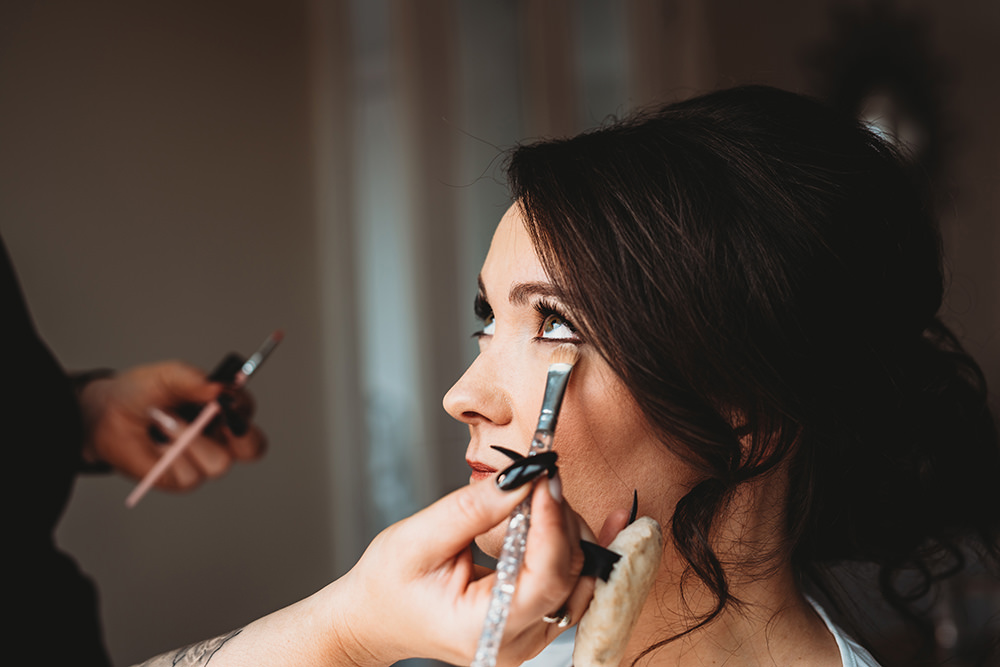 Bride Bridal Make Up Whinstone View Wedding Emma Adamson Photography