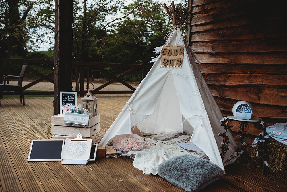 Children Child Kid Tipi Tent Area Whinstone View Wedding Emma Adamson Photography