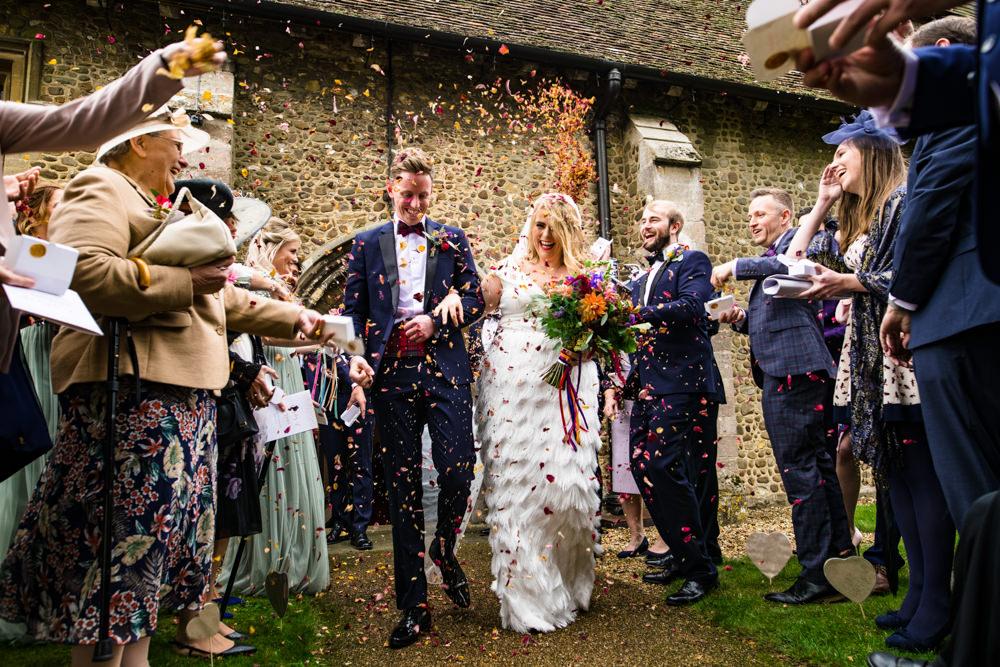 Confetti Anstey Hall Wedding Jonny Barratt Photography