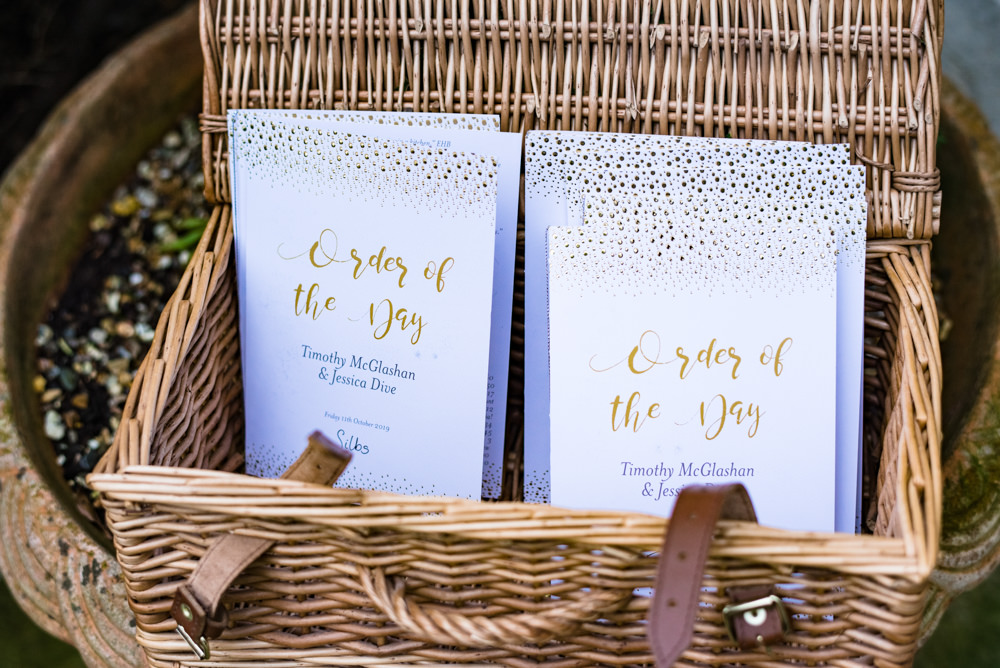 Order of the Day Booklet Anstey Hall Wedding Jonny Barratt Photography