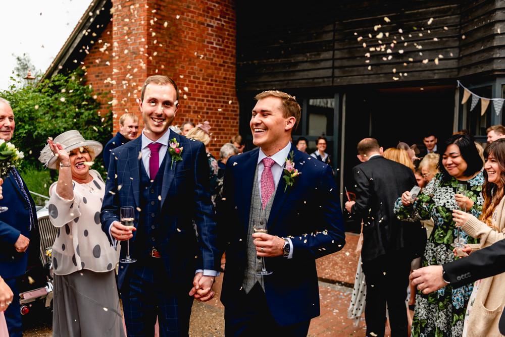 Confetti Avoncroft Museum Wedding Lisa Carpenter Photography