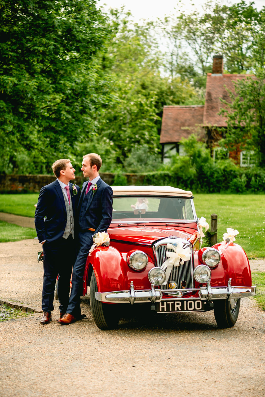 Classic Car Transport Avoncroft Museum Wedding Lisa Carpenter PhotographyAvoncroft Museum Wedding Lisa Carpenter Photography