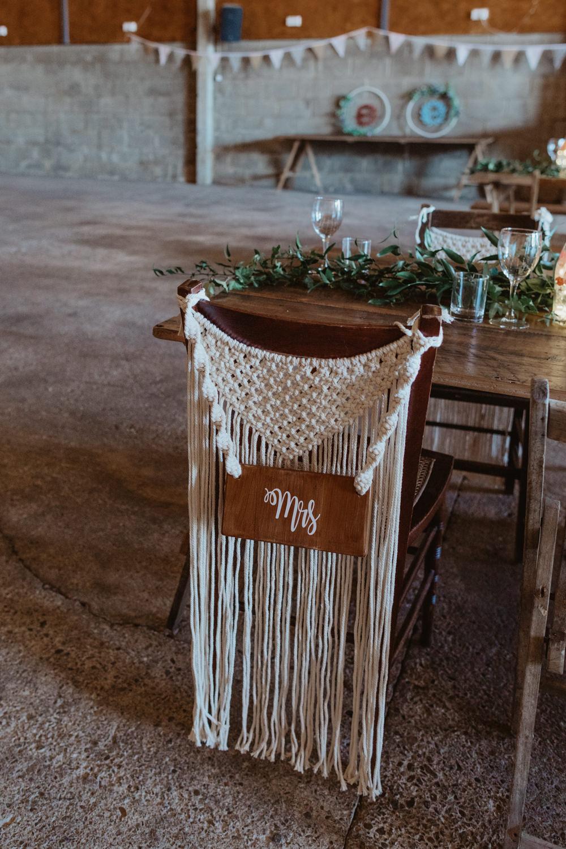 Macrame Chair Decor Name Barns Lodge Farm Wedding Stevie Jay Photography