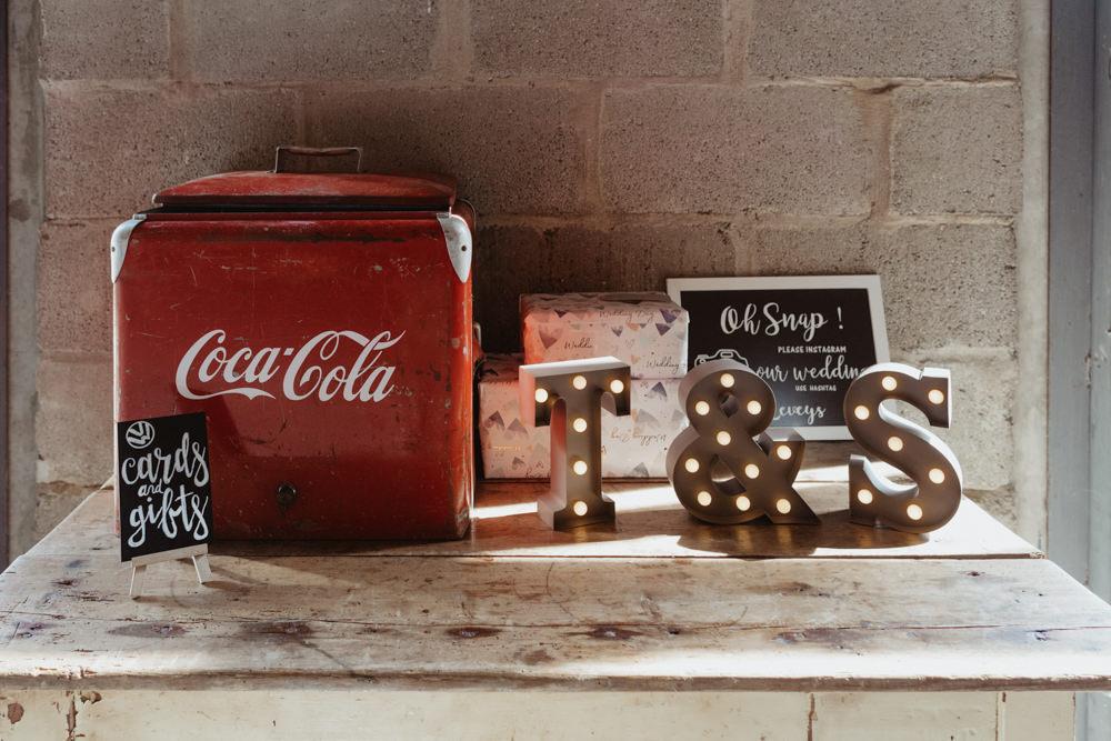 Card Box Tin Barns Lodge Farm Wedding Stevie Jay Photography