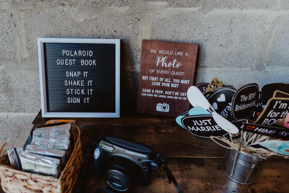 Polaroid Guest Book Barns Lodge Farm Wedding Stevie Jay Photography