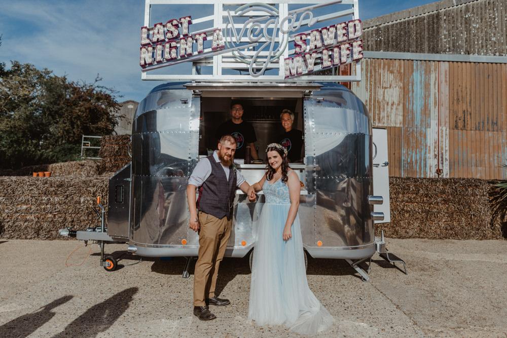 Food Truck Van Vegan Barns Lodge Farm Wedding Stevie Jay Photography