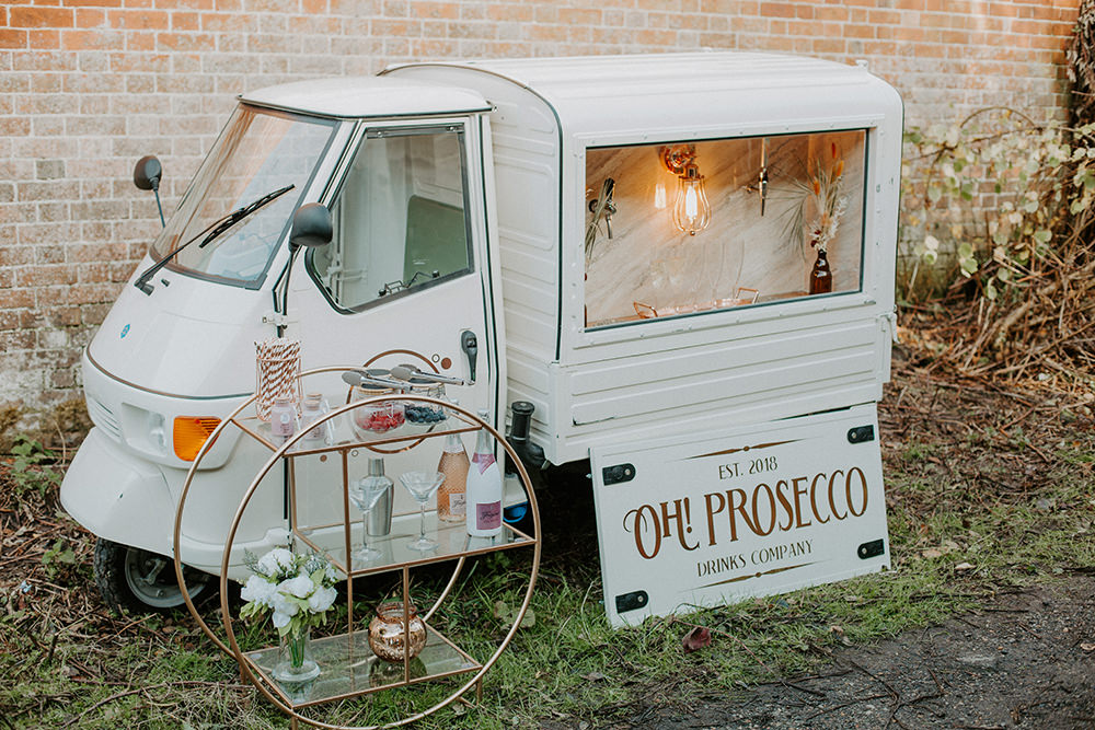 Prosecco Van Drinks Truck Boho Wedding Ideas The Enlight Project