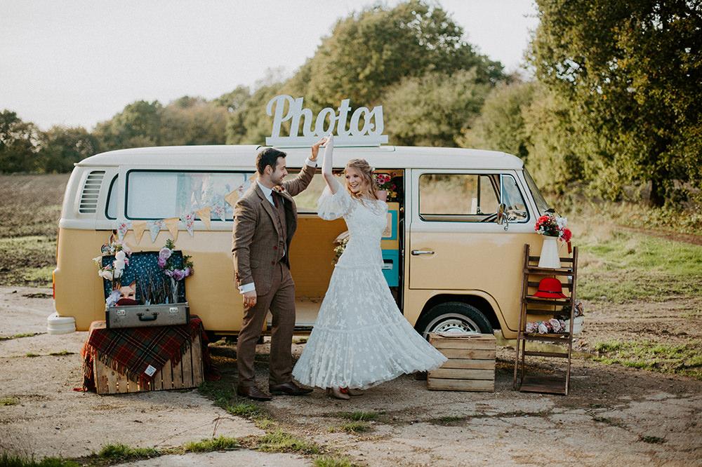VW Campervan Photobooth Boho Wedding Ideas The Enlight Project