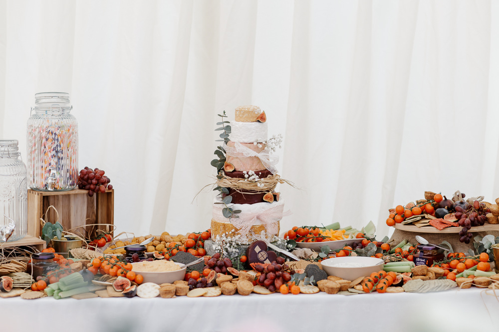 Grazing Table Sharing Platter Cheese Cake Cotswolds Marquee Wedding Jessy Papasavva Photography