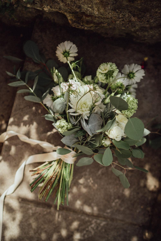 Bouquet Flowers Bride Bridal Eucalyptus Countryside Barn Wedding Emily & Steve Photography