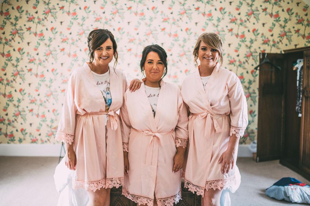 Bride Bridesmaids Dressing Gowns Robes Dalduff Farm Wedding Northern Aye Photography