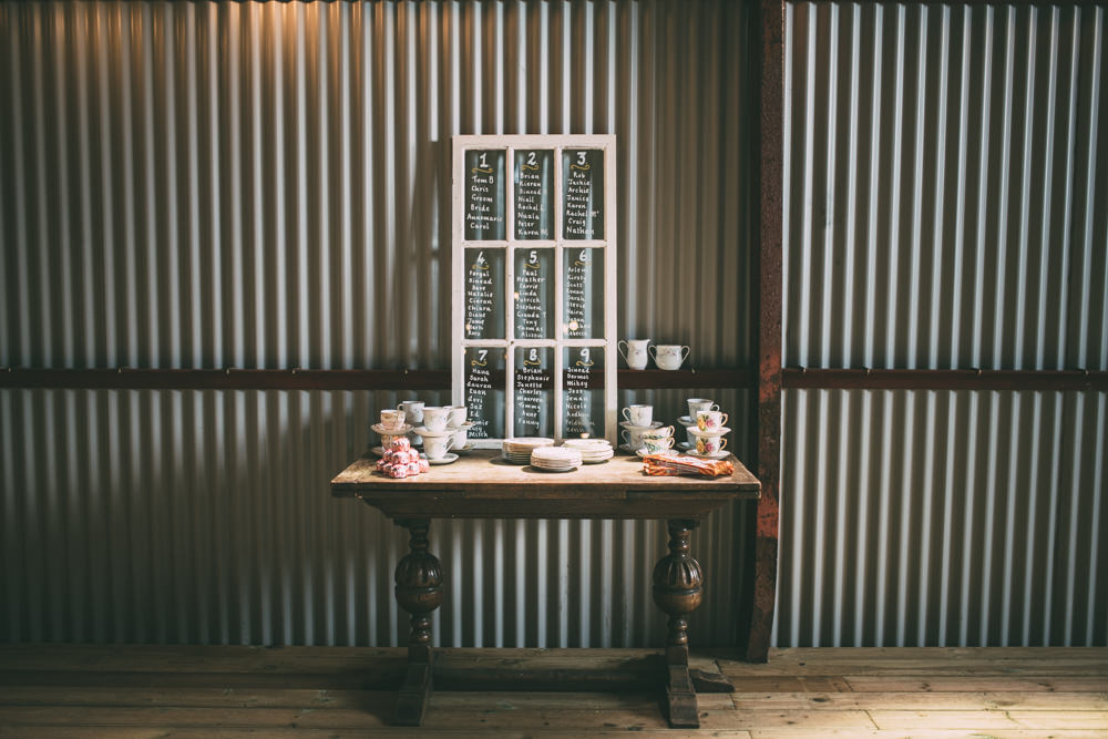 Window Frame Table Plan Seating Chart Dalduff Farm Wedding Northern Aye Photography