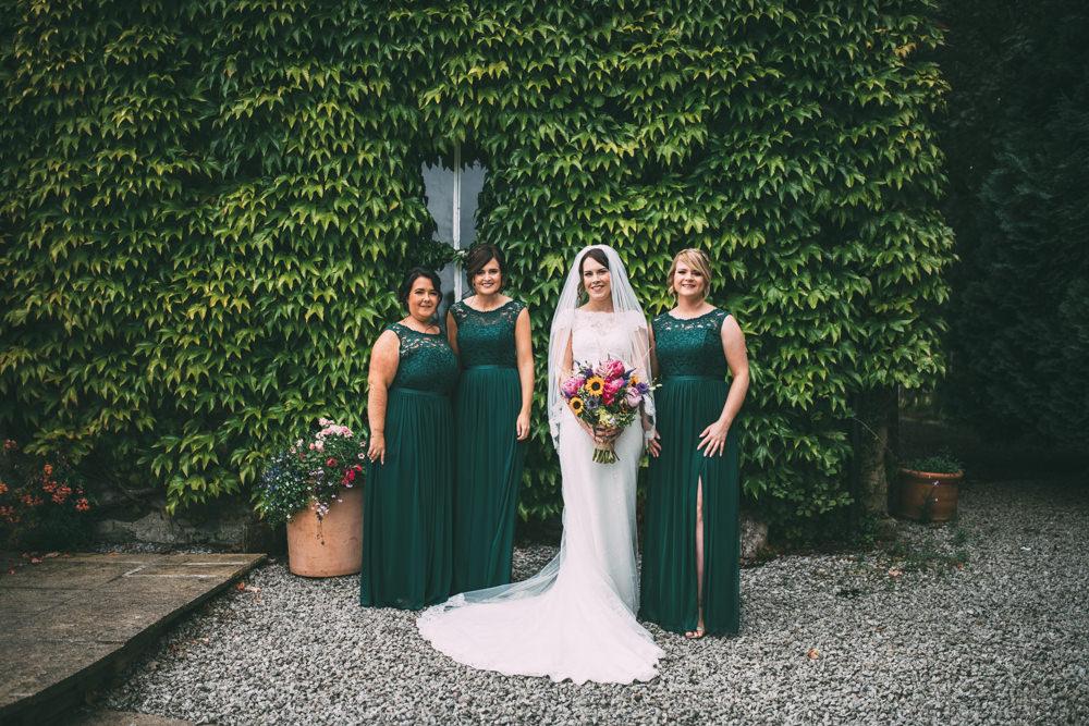 Bridesmaids Bridesmaid Dress Dresses Emerald Green Dalduff Farm Wedding Northern Aye Photography