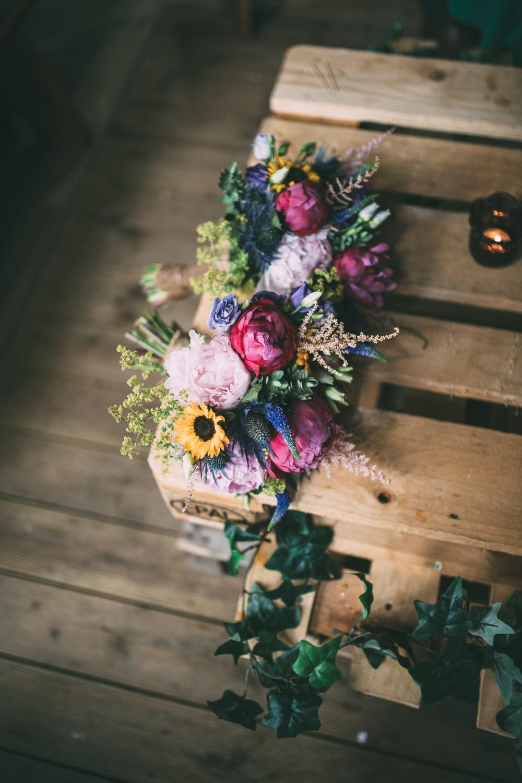 Bouquet Flowers Bride Bridal Astilbe Peony Dalduff Farm Wedding Northern Aye Photography