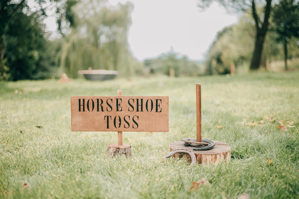 Fete Game Horse Shoe Toss Eco Friendly Wedding Inspiration Sarah Jayne Photography