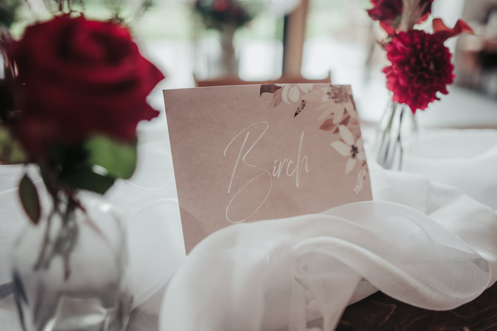 Stationery Table Name Pink Floral Eco Friendly Wedding Inspiration Sarah Jayne Photography