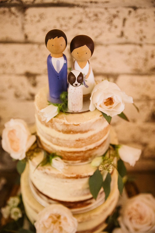 Semi Naked Cake Flowers Topper Eden Barn Wedding Margarita Hope Photography