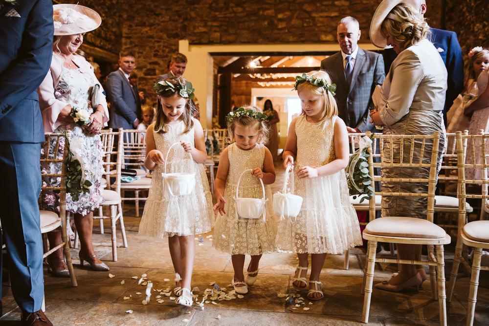 Flower Girls Petal Baskets Eden Barn Wedding Margarita Hope Photography