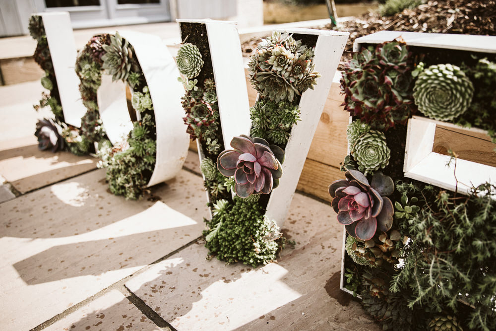 Succulent Love Letters Eden Barn Wedding Margarita Hope Photography