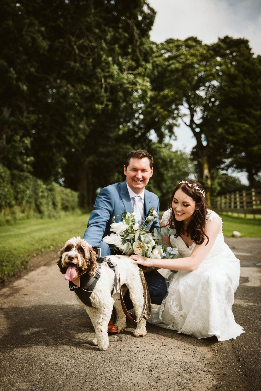Dog Pet Eden Barn Wedding Margarita Hope Photography