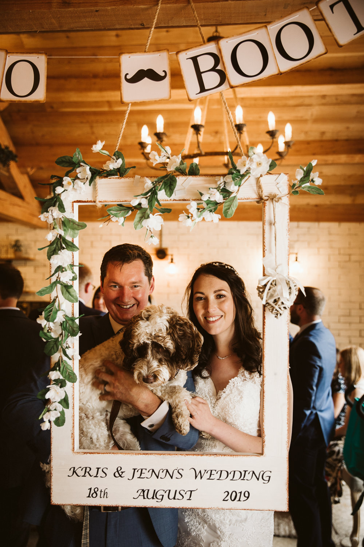 Photo Booth Frame Eden Barn Wedding Margarita Hope Photography