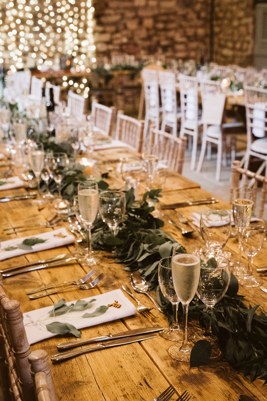 Long Table Greenery Foliage Garland Runner Eden Barn Wedding Margarita Hope Photography