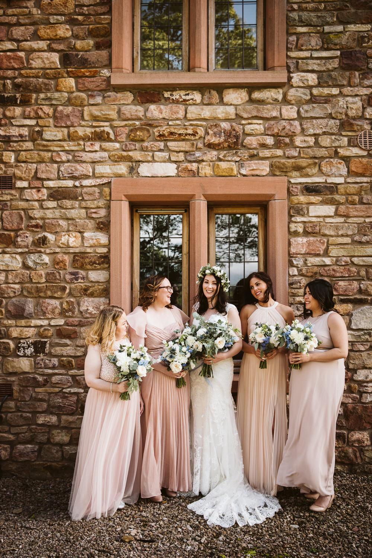 Bridesmaids Bridesmaid Dress Dresses Pink Eden Barn Wedding Margarita Hope Photography
