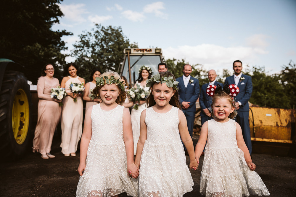 Flower Girls Eden Barn Wedding Margarita Hope Photography
