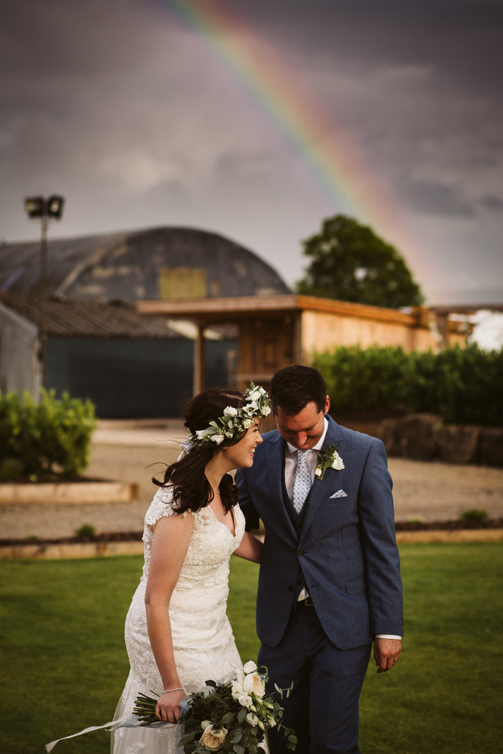 Botanical & Rustic Barn Wedding with a Rainbow