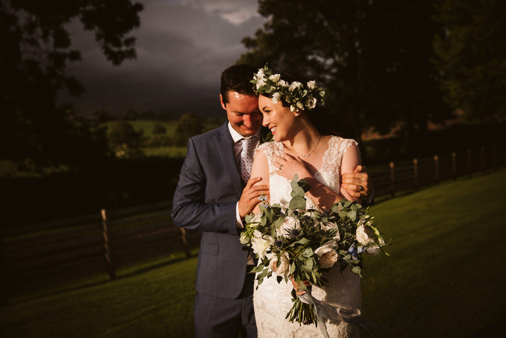Flower Crown Bride Bridal Eden Barn Wedding Margarita Hope Photography