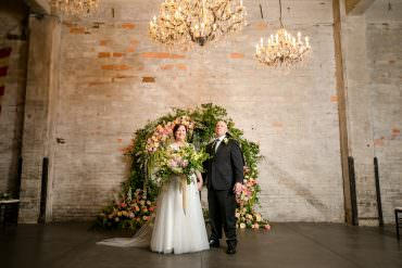 Opulent Floral Filled Green & Gold Brunch Wedding in Minneapolis