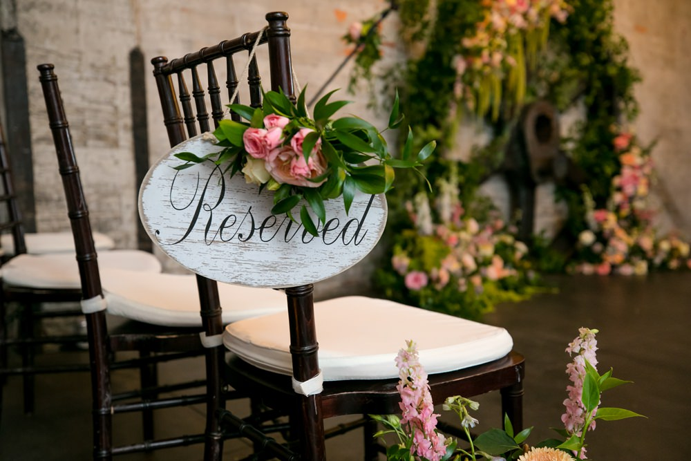 Reserved Seat Sign Ceremony Floral Minneapolis Wedding Jeannine Marie Photography