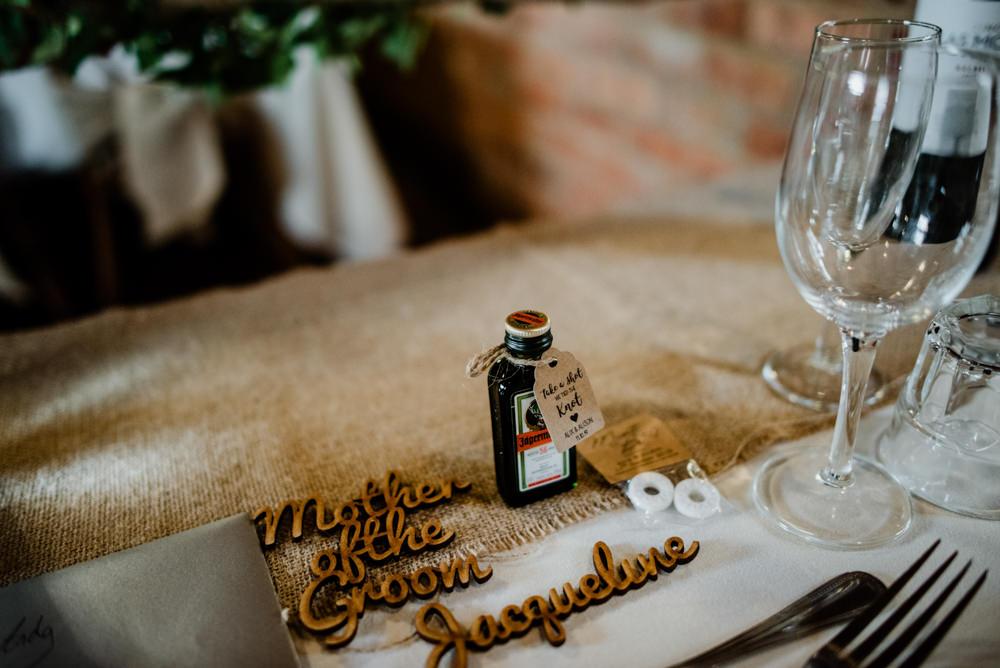 Mini Bottle Drink Favours Fun Barn Wedding Kazooieloki Photography