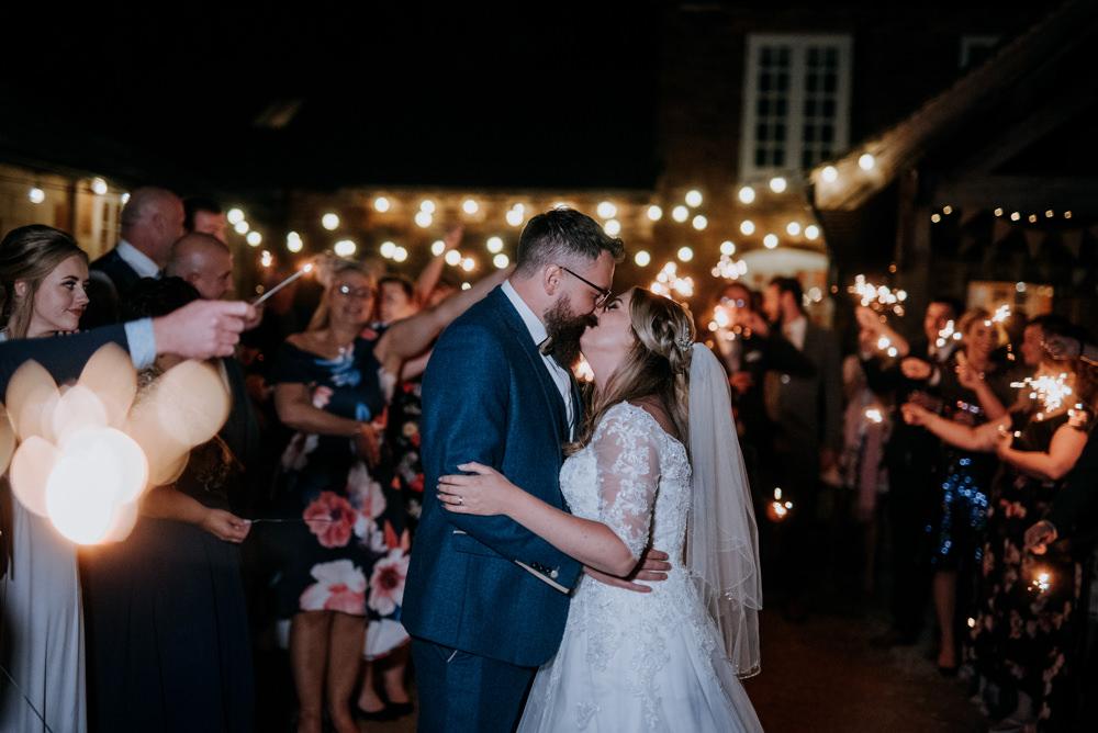 Sparklers Sparkler Exit Send Off Fun Barn Wedding Kazooieloki Photography