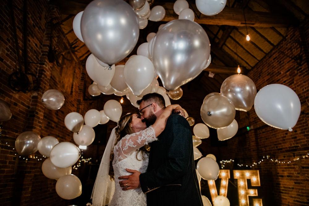 First Dance Balloons Fun Barn Wedding Kazooieloki Photography