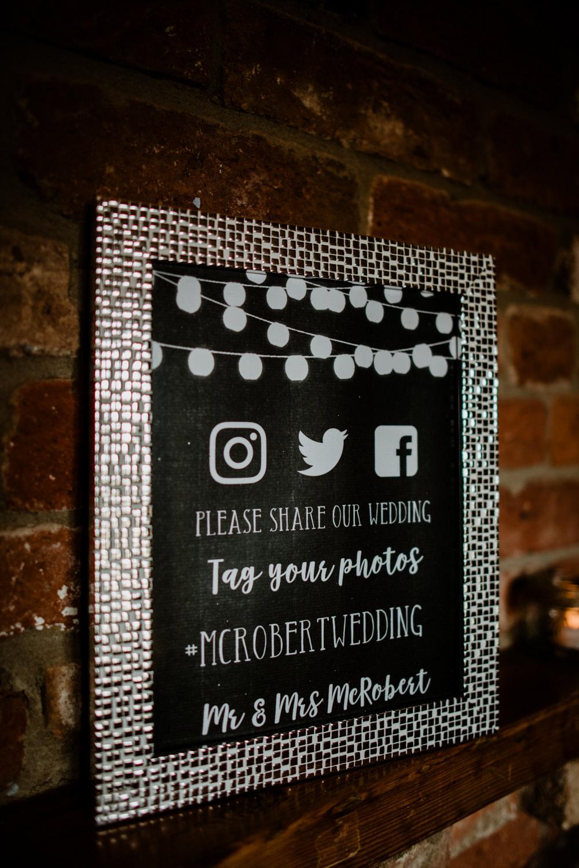 Hashtag Sign Signs Fun Barn Wedding Kazooieloki Photography