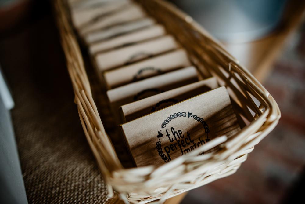Personalised Match Box Fun Barn Wedding Kazooieloki Photography