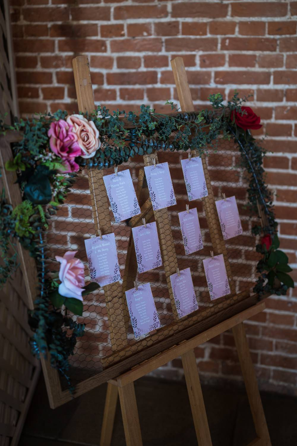 Table Plan Seatin Chart Frame Greenery Haughley Park Barn Wedding Him and Her Wedding Photography