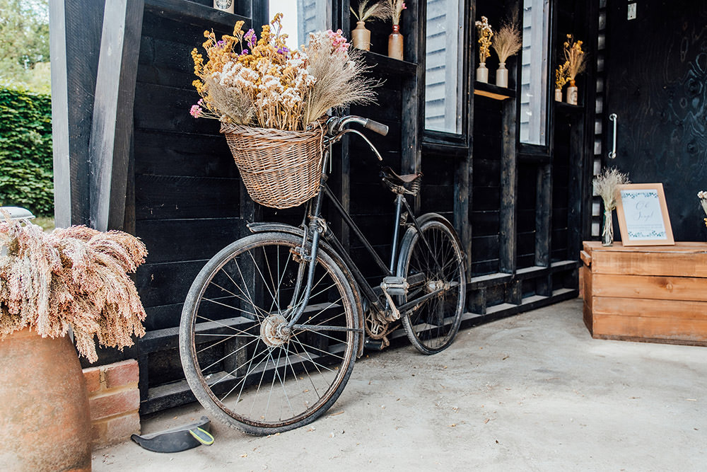 Bike Bicycle Flowers Hookhouse Farm Wedding Anna Pumer Photography
