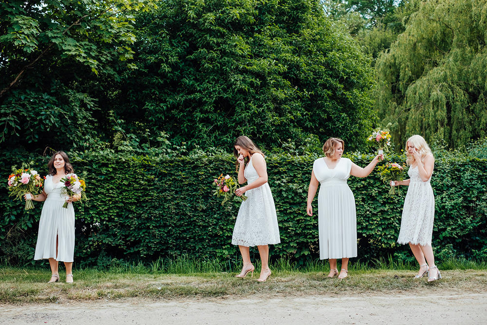 Bridesmaids Bridesmaid Dress Dresses Hookhouse Farm Wedding Anna Pumer Photography