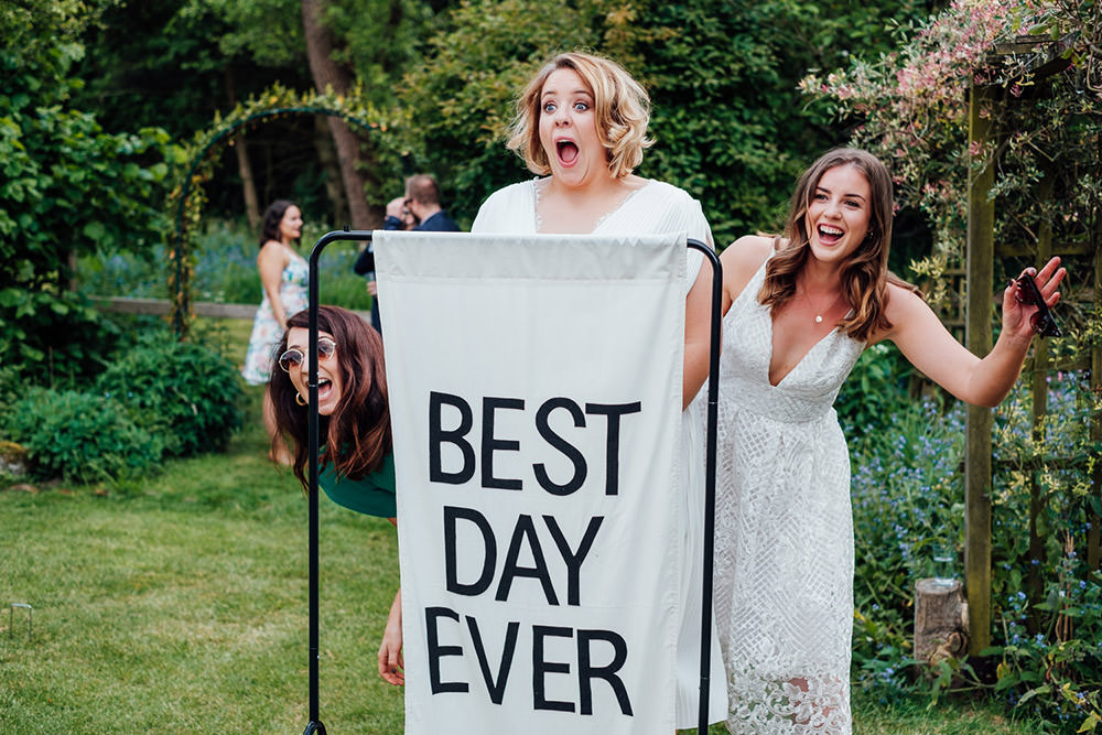 Best Day Ever Sign Banner Hookhouse Farm Wedding Anna Pumer Photography