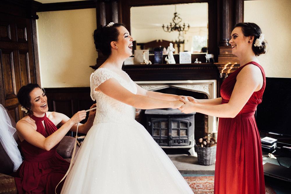 Dress Gown Bride Bridal Princess Lace Longton Wood Wedding Alex Tenters Photography