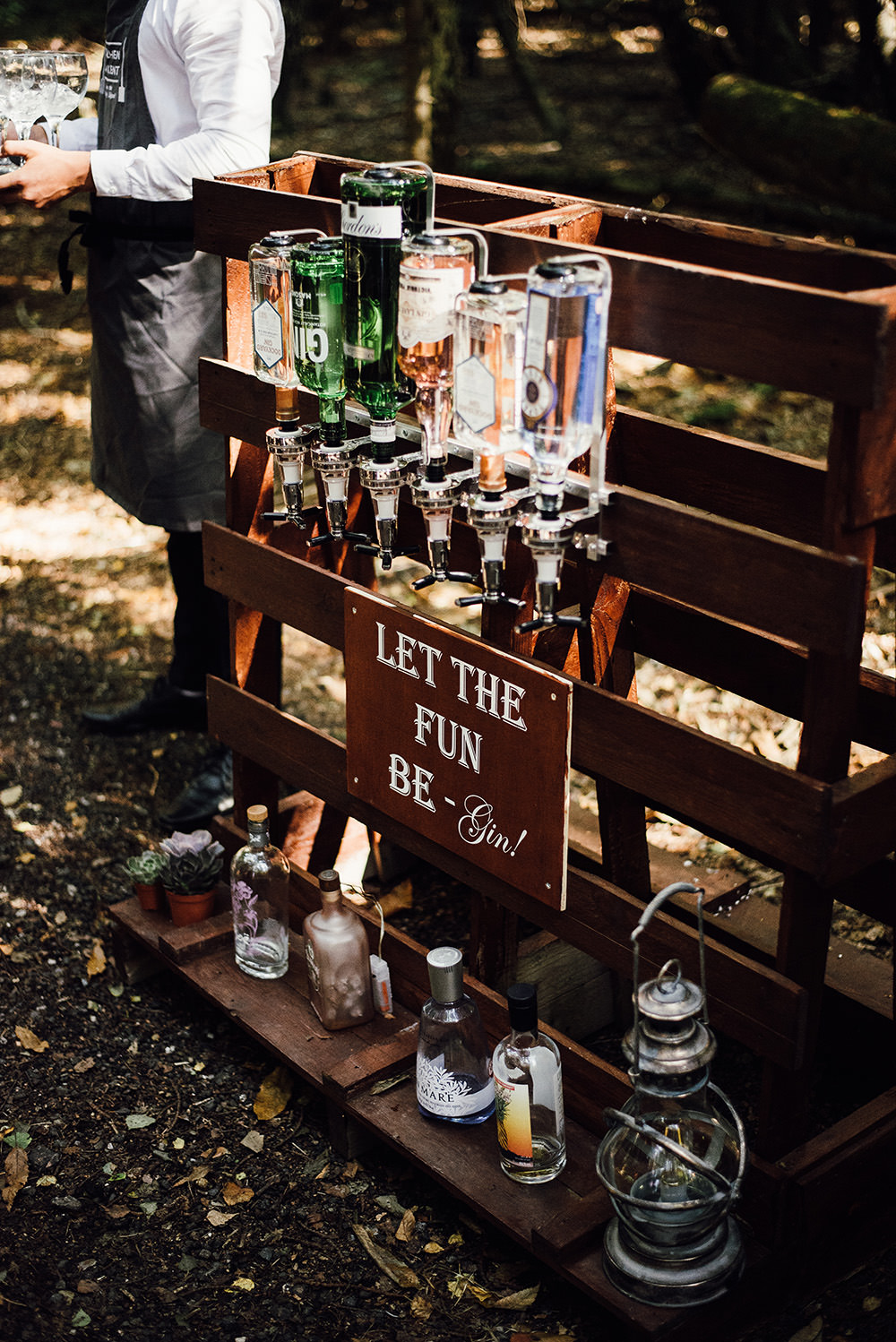 Gin Bar Drinks Longton Wood Wedding Alex Tenters Photography